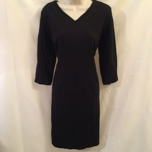 CHICO'S So Slimming Black Sheath Dress w/Shapewear